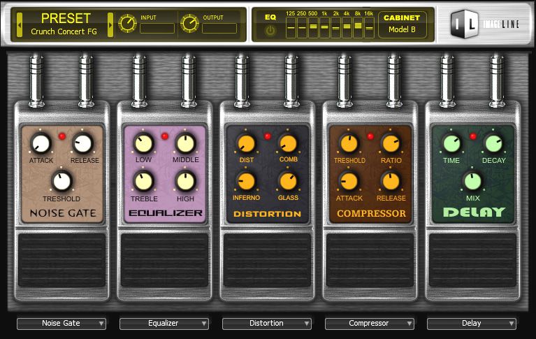 image line software releases the guitar effects collection hardcore. Black Bedroom Furniture Sets. Home Design Ideas