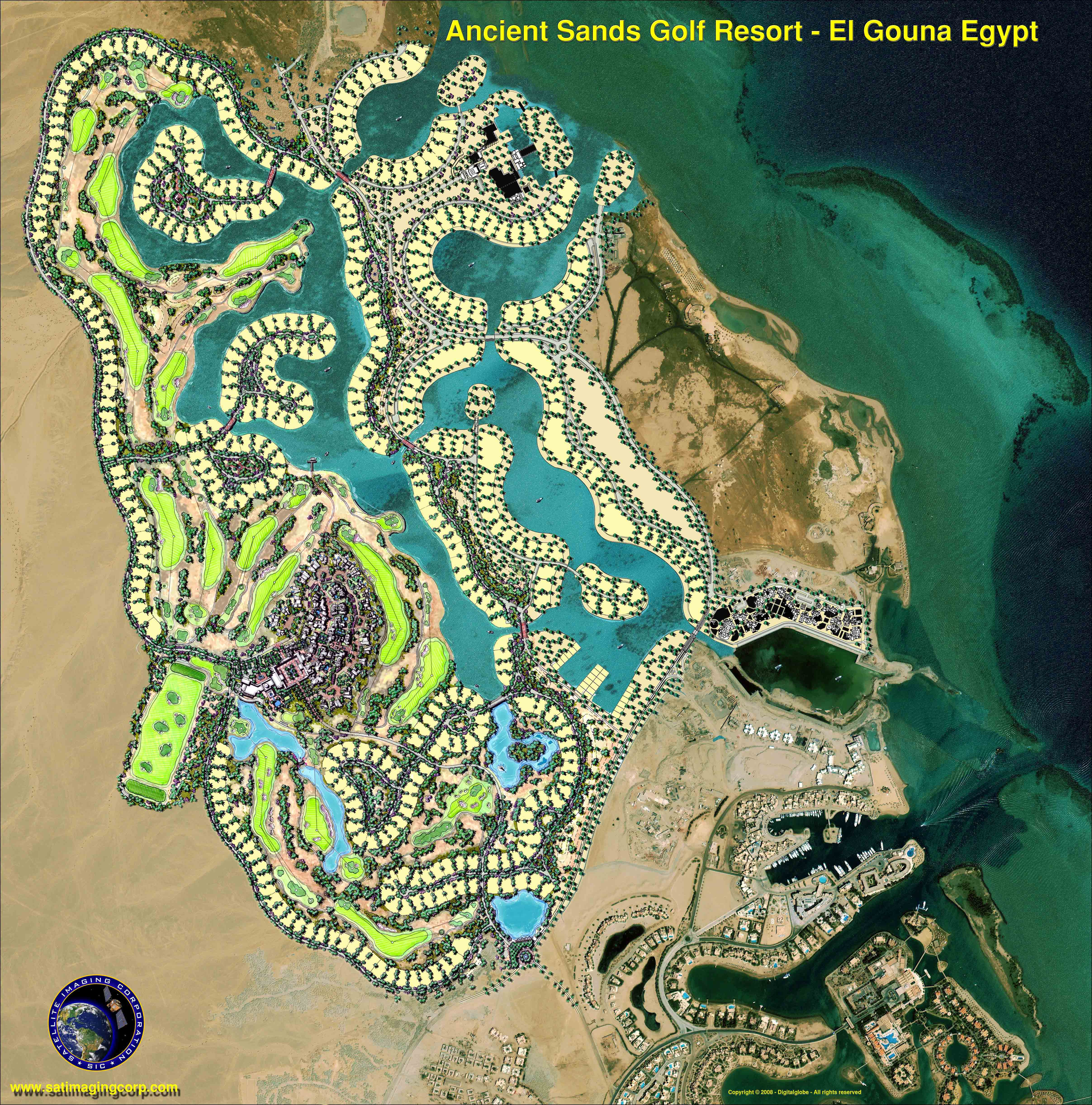 Golf Resort in Egypt Commissioned Satellite Imaging