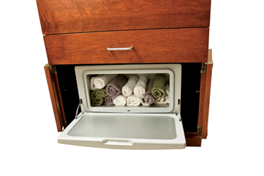... Lower Storage Area With Optional Hot Towel WarmerOptional Towel Drawer  ...