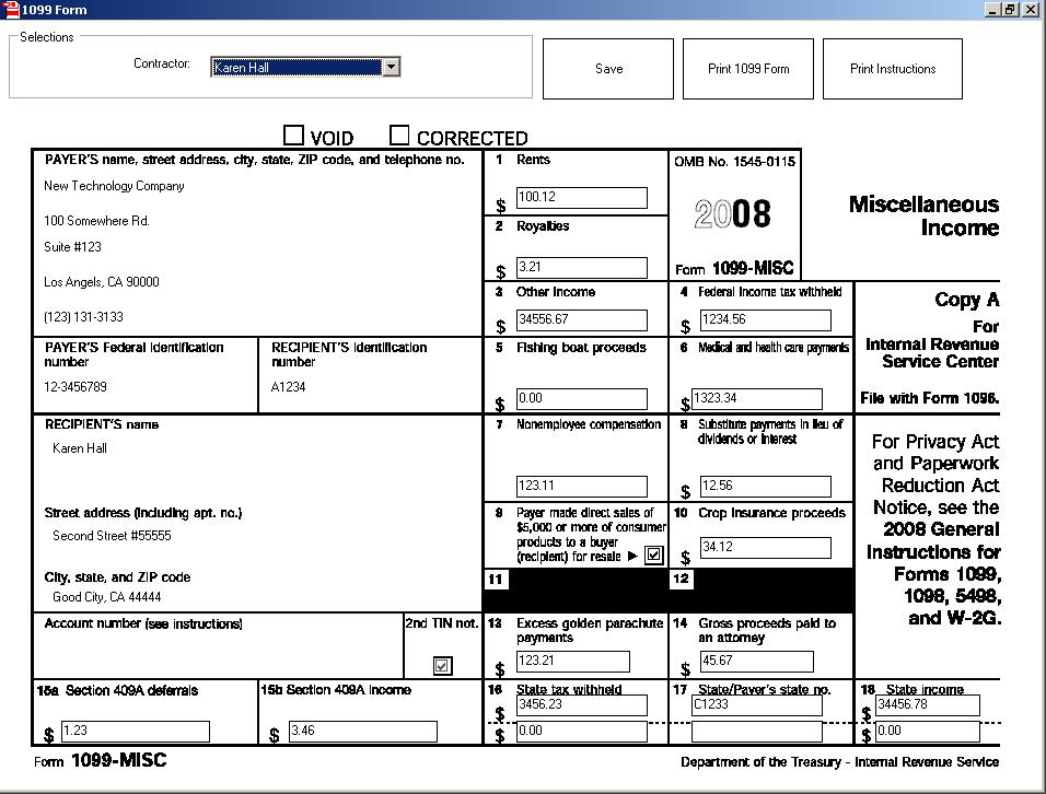 New w2 1099 Printing Software Was Customized for Small Businesses by a Design Team which