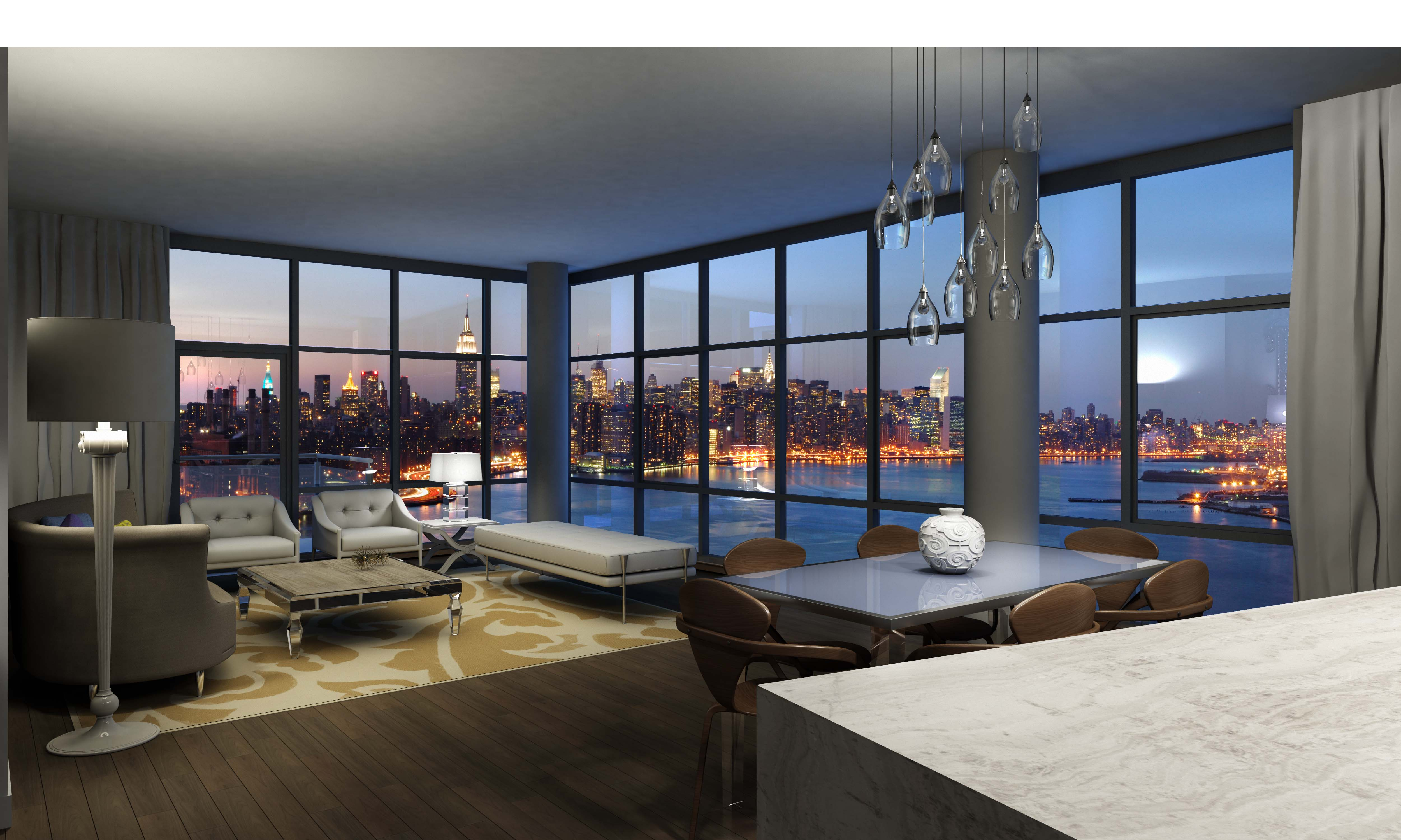 "Interior Design Homes Our New Site Featuring The Best In: Northside Piers ""Tops Off"" Tower Two, Its Luxury"