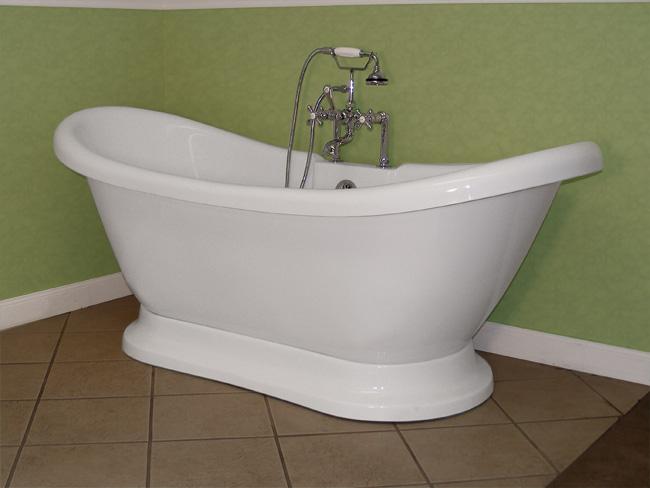 Randolph Morris Acrylic Double Slipper Pedestal Tub ...