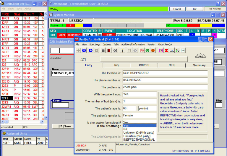 Interact Public Safety S Computer Aided Dispatch System