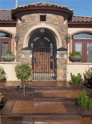 Create Great Decorative Concrete Entryways With 10 Design