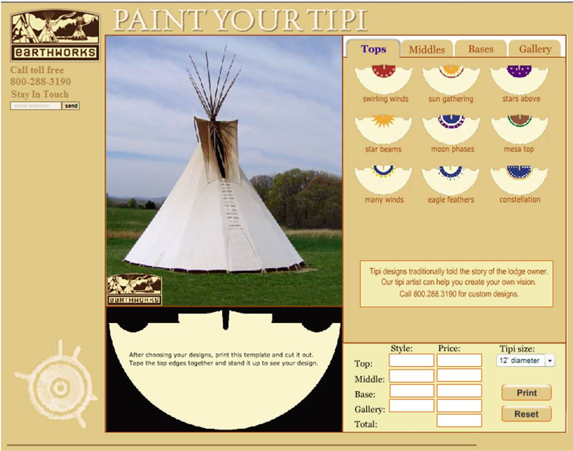 Earthworks Tipis Introduces Free Online Design Tool For