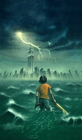 Percy Jackson and the Olympians Book Cover Art by