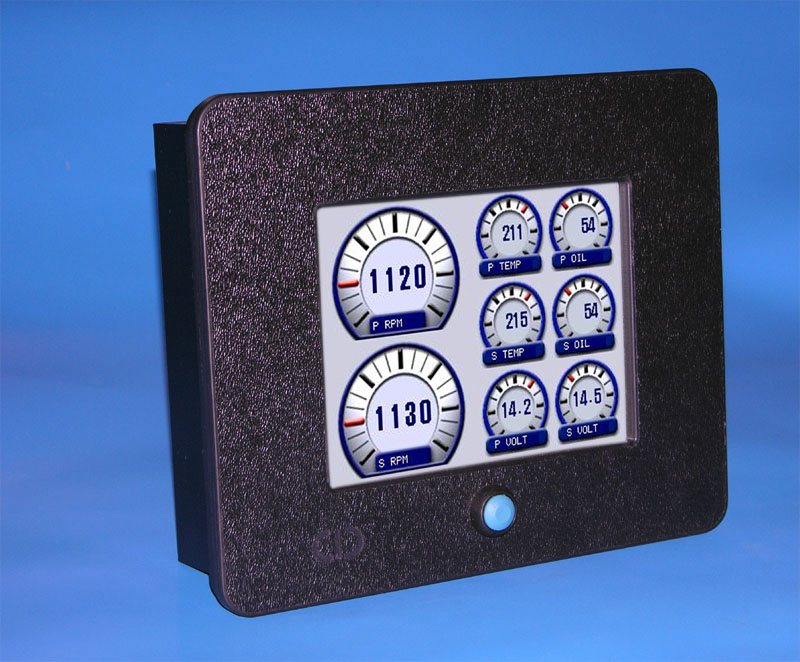 Outboard Motor Replacement Gauges with Color Touch Screen