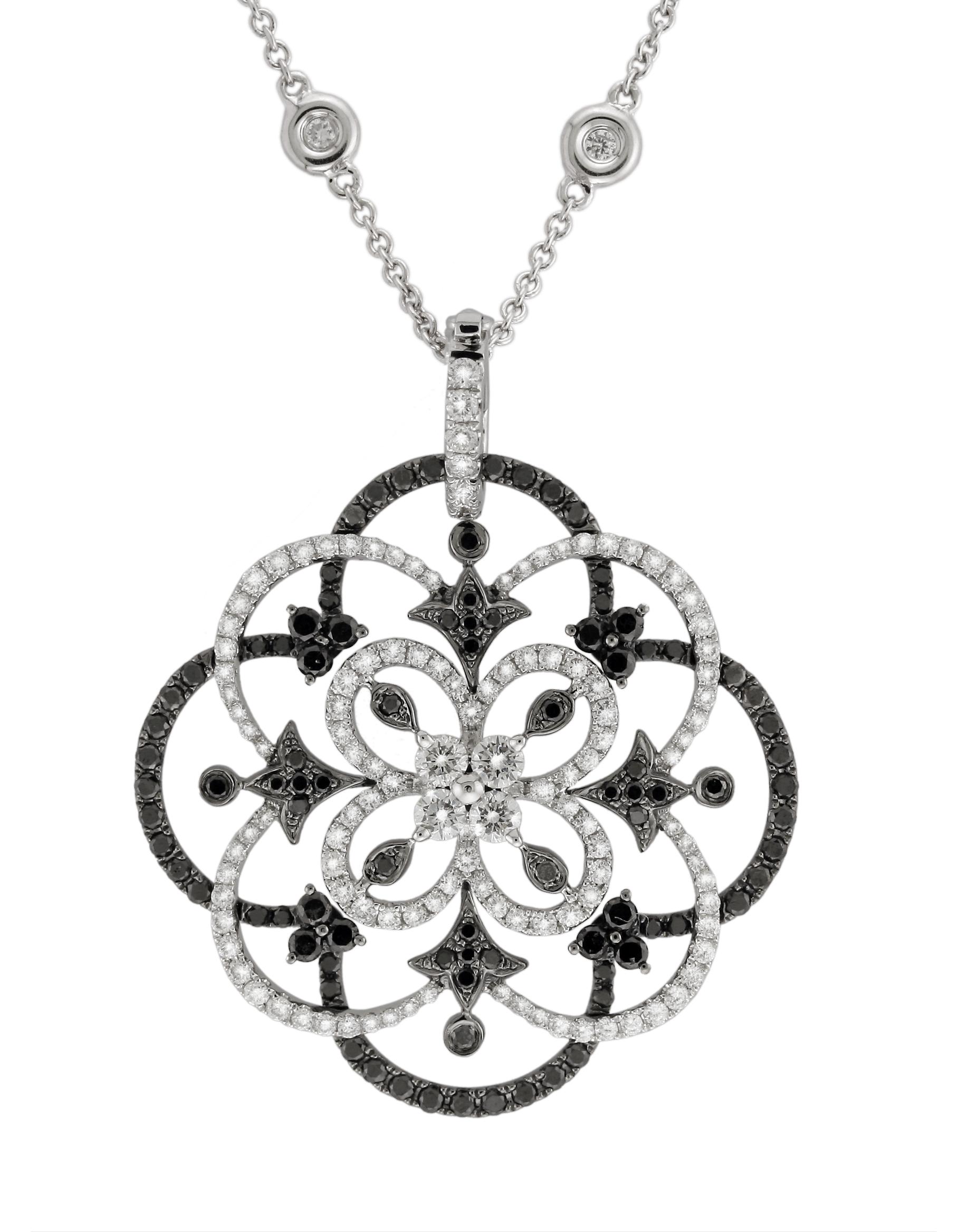 Beautiful diamond pendant settings designs best jewelry diamond necklaces pendants back in black fine jeweler yael designs releases a new black and aloadofball Choice Image