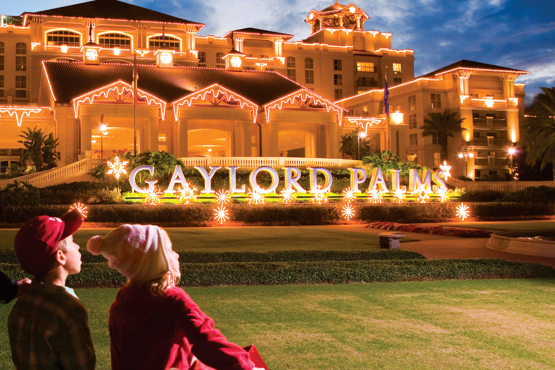 slides with grandpa opryland christmas lights at gaylord palms