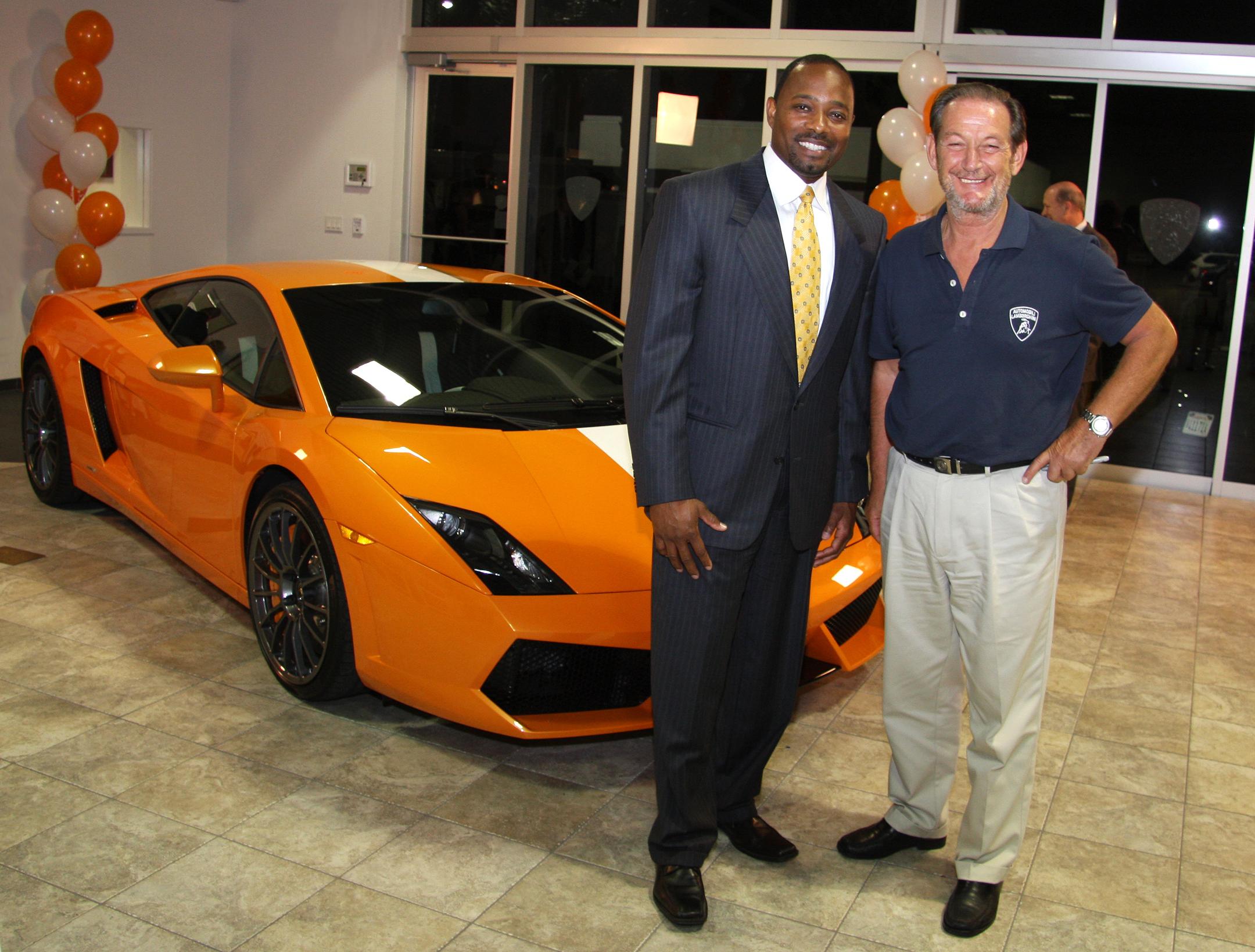 Nice Victor Young (Lamborghini Sarasota) And Valentino BalboniVictor Young  (President Of Lamborghini Sarasota) And Valentino Balboni (Lamborghini)  Standing In ...
