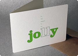New holiday letterpress cards from spiffy press jolly holiday card m4hsunfo