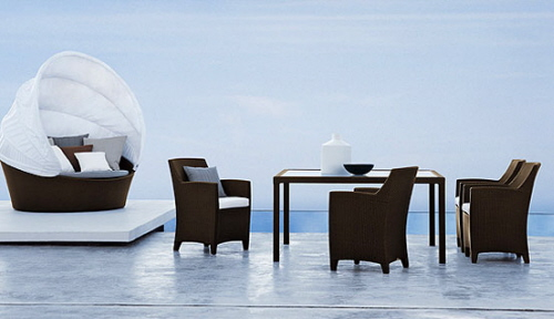 Ordinaire Outdoor Furniture CollectionsModaniu0027s Outdoor Furniture Is Chic And  Weather Resistant.