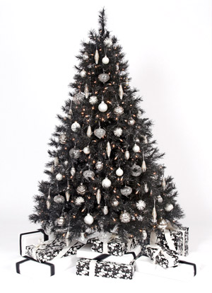 Tuxedo Black Christmas Tree by TreetopiaThe Tuxedo Black Christmas Tree is another of Treetopia's line of black artificial Christmas trees.