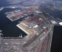 Aerial View, Port of Long Beach, California