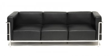 Cuscino Grande Leather SofaThe Le Corbusier Inspired Design Features A Metal  Frame And Italian Leather Upholstery.