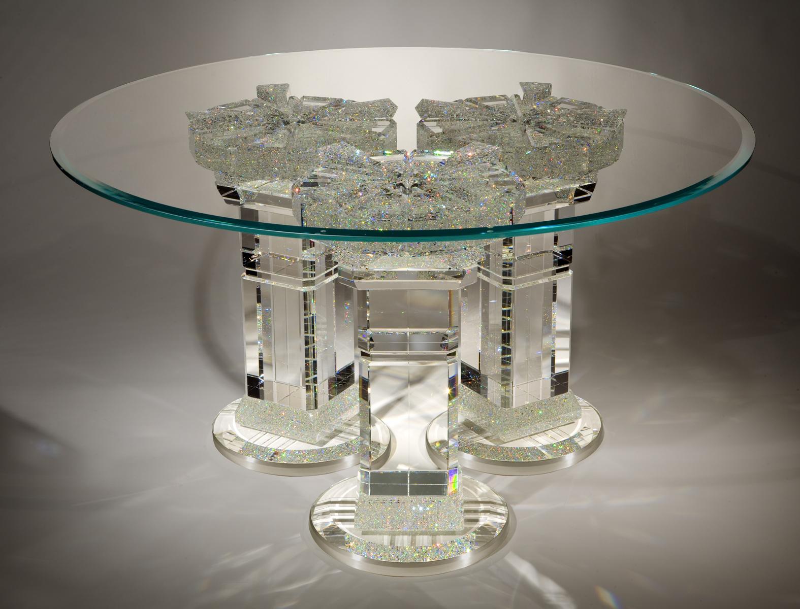 ... One Of Jon Kuhnu0027s Astonishingly Beautiful Crystal Tables ...