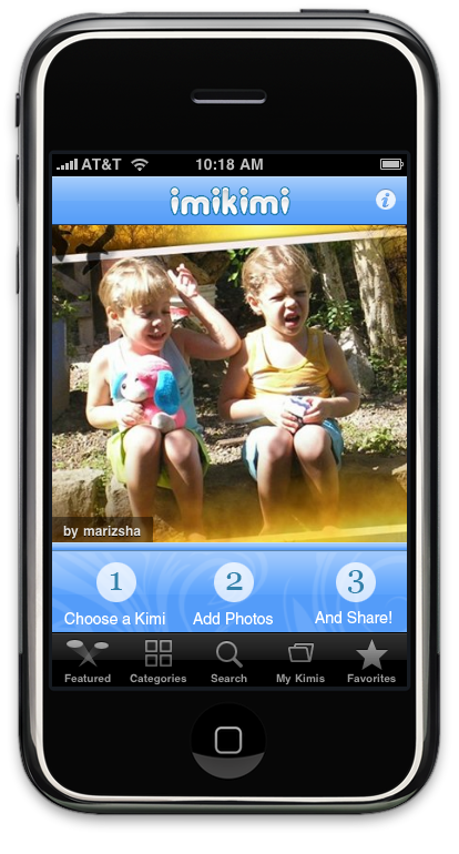 iTunes App Store Features Imikimi Digital Photo Framing App