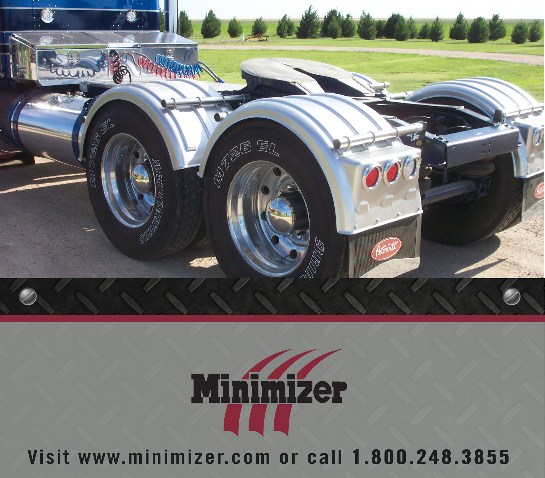 Semi Mud Flaps >> Minimizer Poly Fenders Perfect Match for Vintage Rigs