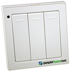 SimpleHomeNet Unveils Versatile Wireless Keypad Switch Certified to ZigBee PRO Home Automation at CES 2010.