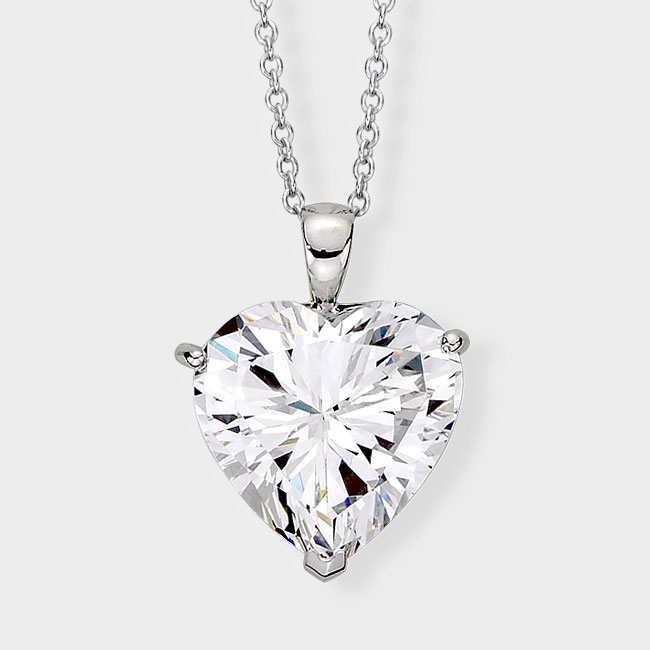 Cubic zirconia ring and cz jewelry sales increase for jeweler birkat heart shaped cubic zirconia pendantis heart shaped cz pendant is both affordable and stunning mozeypictures Gallery