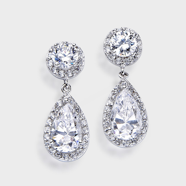 Tear Drop Cubic Zirconia Earringsbirkat Elyon Offers A Wide Variety Of Finest Quality Earrings The Perfect Accessory For Any Occasion