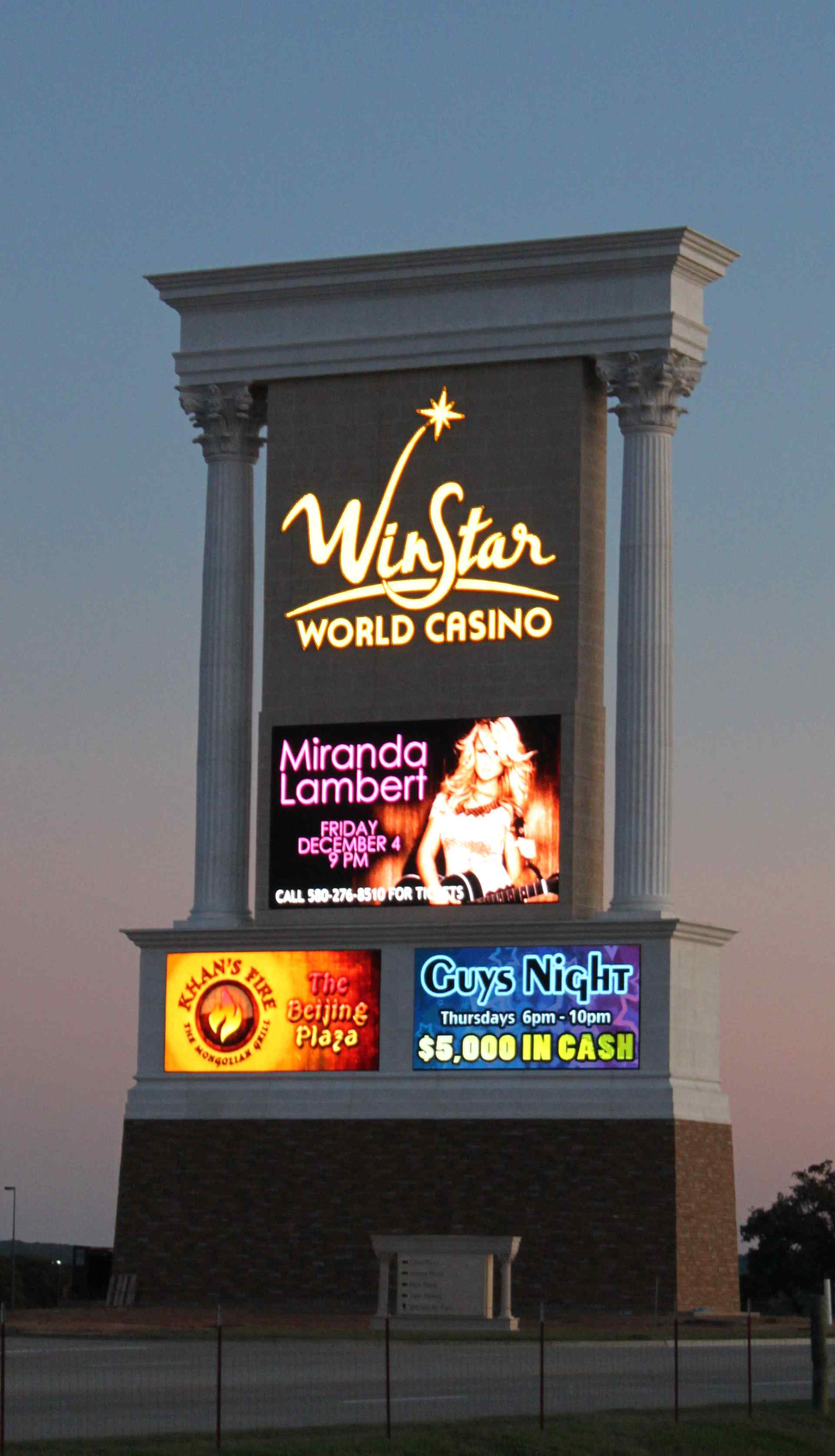 Winstar World Casino Employs Optec Led Video Displays To