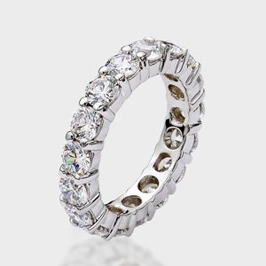 Cubic Zirconia Wedding Bandsave Thousands Choose For Your Cz Engagement Ring