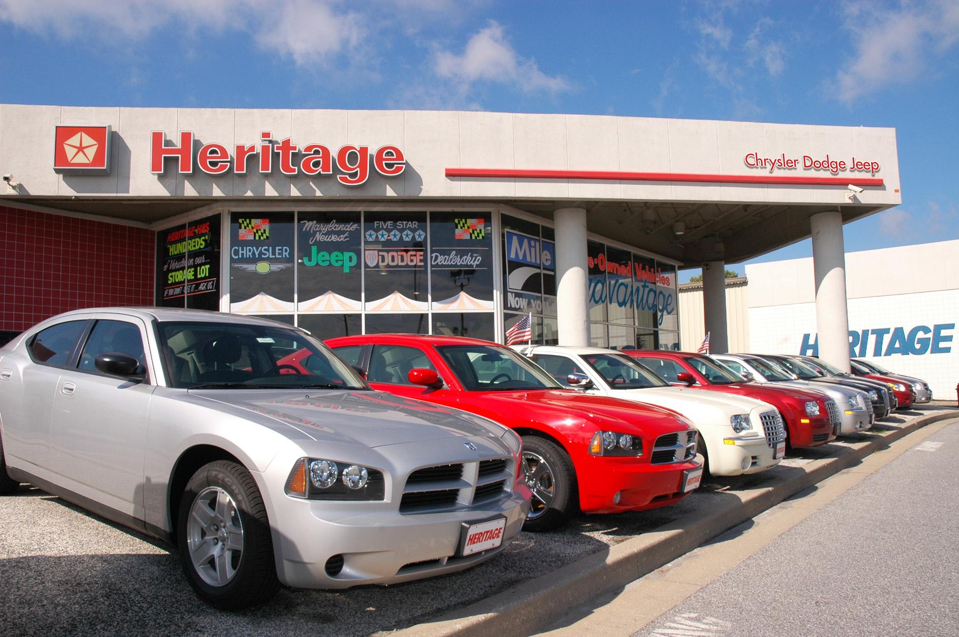MileOne Heritage Chrysler Dodge Jeep Stores in Baltimore ...
