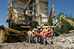 REC uses new CAT Demolition 330 Ultra High Reach at Historic Guld Inn in Toronto