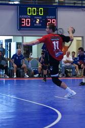 Poland vs. Germany handball on SnapSports athletic surfacing