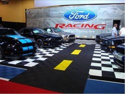 Lincoln Motor Company >> Ford Racing Booths Upgrade their look with Swisstrax Garage Flooring for their Car Displays and ...