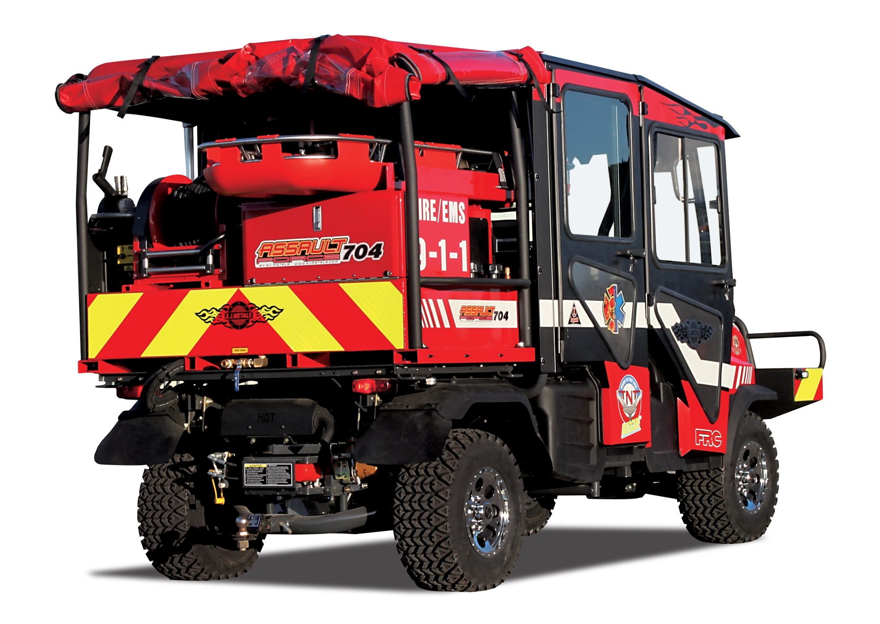 e j metals introduces new assault force 70 4 fire rescue rough terrain vehicles frrtv with. Black Bedroom Furniture Sets. Home Design Ideas