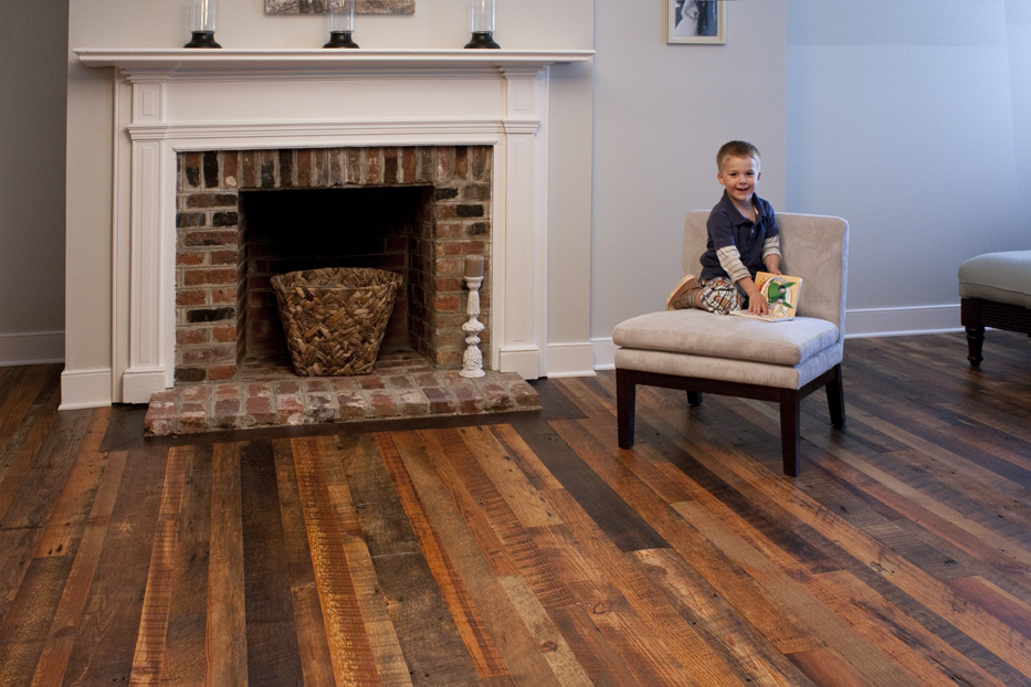 weathered antique pine flooringmany of mountain lumbers reclaimed products contain original saw marks that were created generations ago - Distressed Pine Flooring