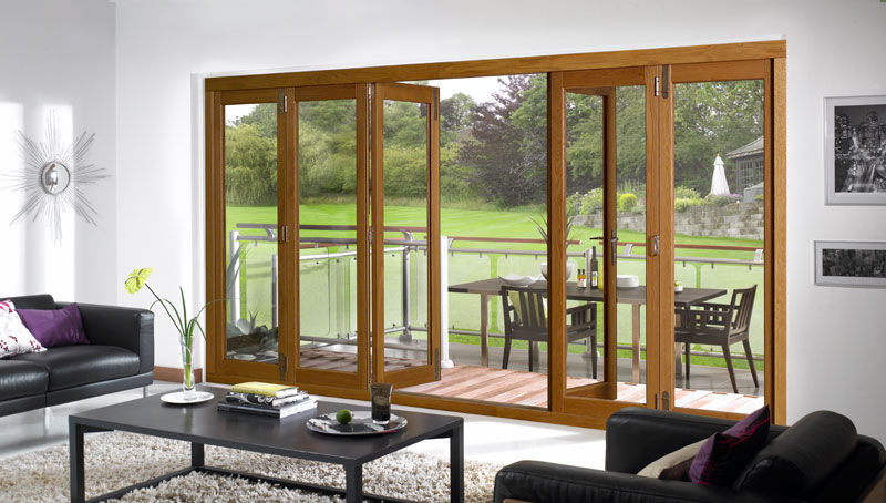 Outdoor Living And Entertaining Stylish Bifold Style Folding Doors