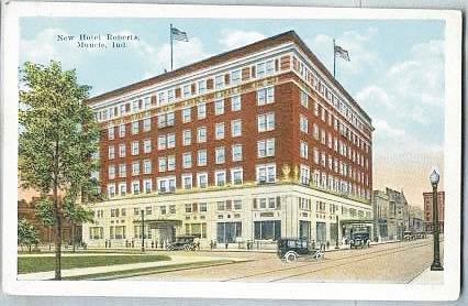 Muncie Businessman George Roberts Commissioned Architect Charles W Nicol In 1921 To Design A Grand Hotel That Would Be Showplace Of