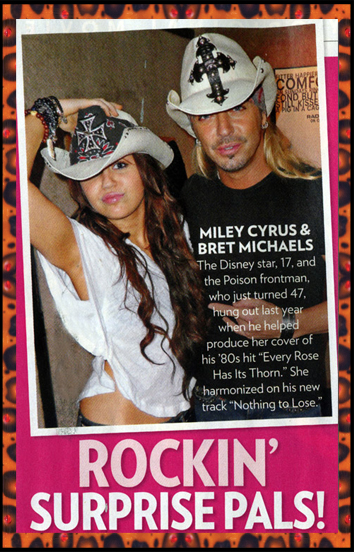 cb00dba3033b6 Bret and Miley CyrusTeamDiva.com hats worn by Bret and Miley as featured in  People magazine.