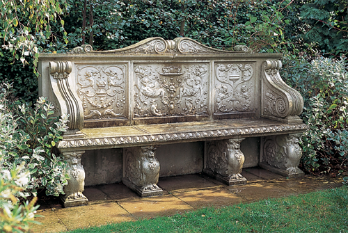 ... Cast Stone Raphael Seat Bench By Haddonstone