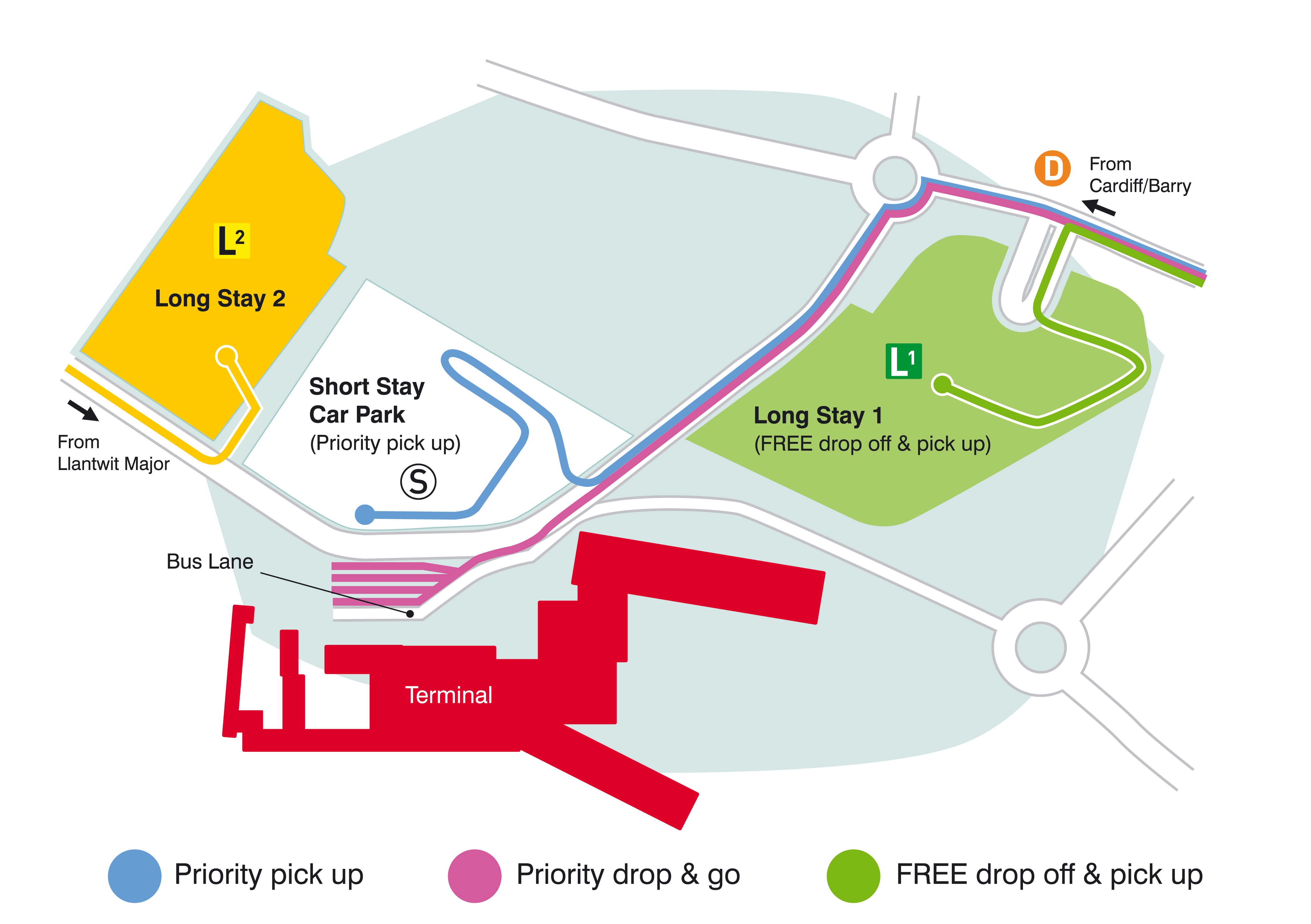 Cardiff Airport Map New Drop Off and Pick Up Arrangements Introduced at Airport Cardiff Airport Map