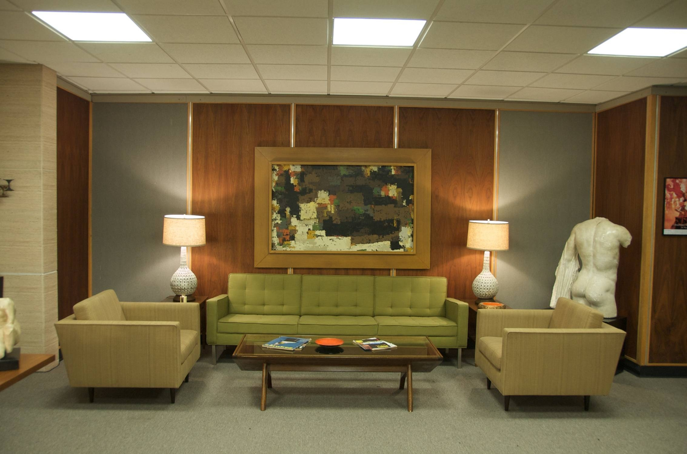 Roger Sterling Office To Iconic Office Move Uship Is Transporting The Desk Table And Sofa Of Mad Menu0027s Roger Sterling Providing Free Shipping Vintage Furniture Props For