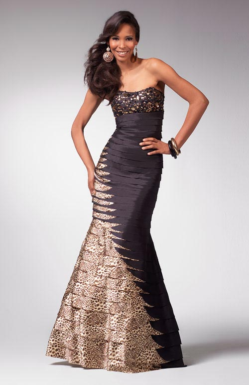 8bbe95de24e Prom dress 1563Black and animal print long prom dress 1563 from the 2011 prom  dress collection.