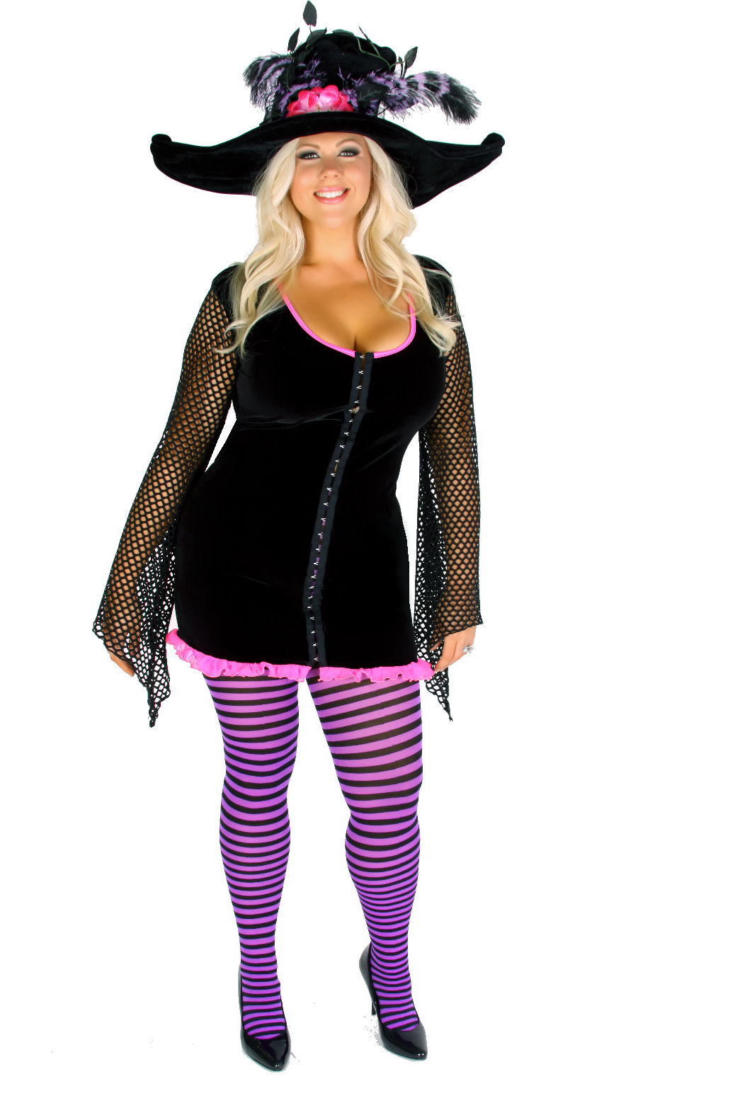 Plus Size Retro Chick Costume 1X-12XRetro chick costume includes mini dress featuring a flaired one mesh sleeve and matching scarf.  sc 1 th 275 & New Plus Size Halloween Costume Collection Unveiled by ...