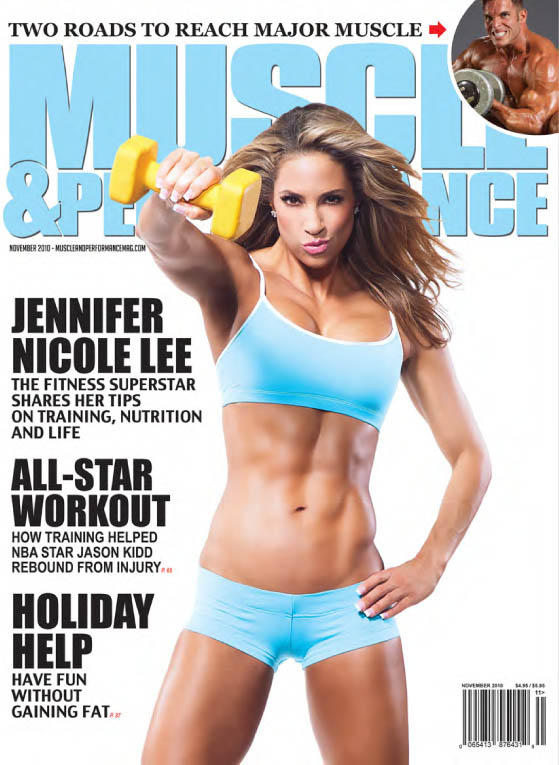 JNL Muscle & Performance Magazine Cover Jennifer Nicole Lee Super Fitness  Model Best selling author ...