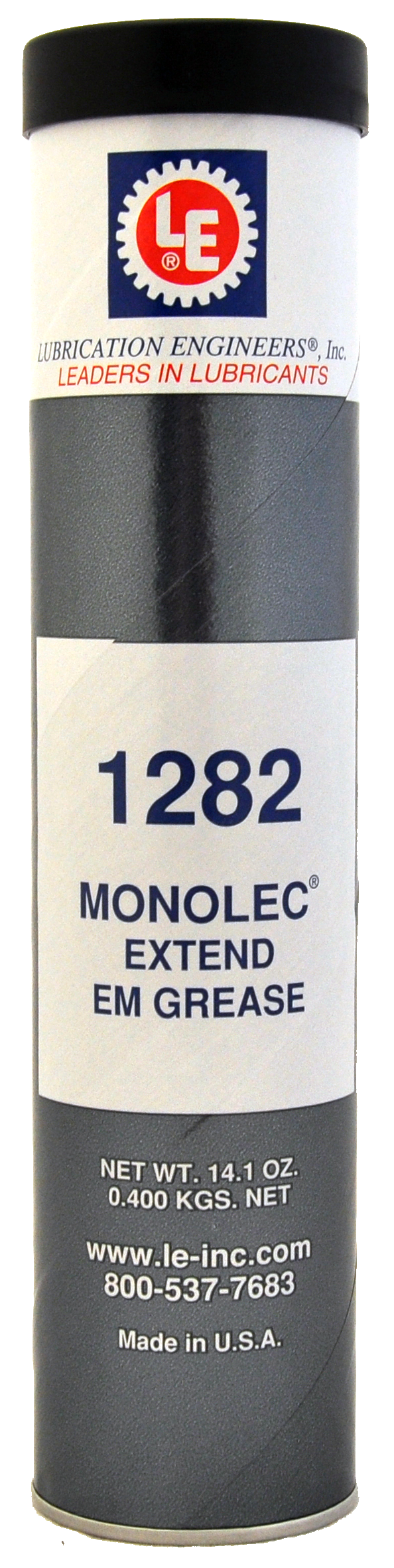 LE's Monolec Extend EM Grease (1282) is available in 14-oz tubes, as well  as in 35-lb pails and in Perma automatic lubricators.