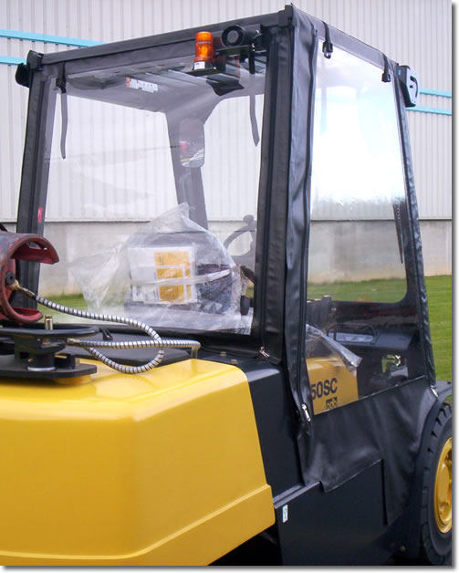 fork lift cabs from ukbmb help improve productivity in the workplace