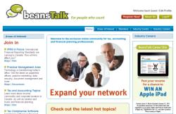 beansTalk.ca is a new social networking site for Canada's Tax and Accounting Professionals