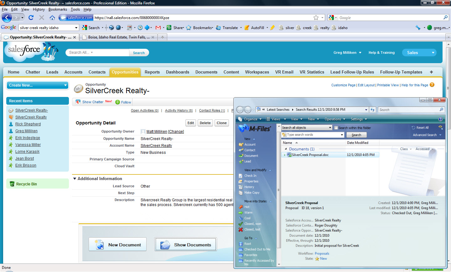 M Files For Salesforce Crm Brings Document Driven Crm To