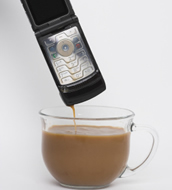 cell phone damaged by coffee