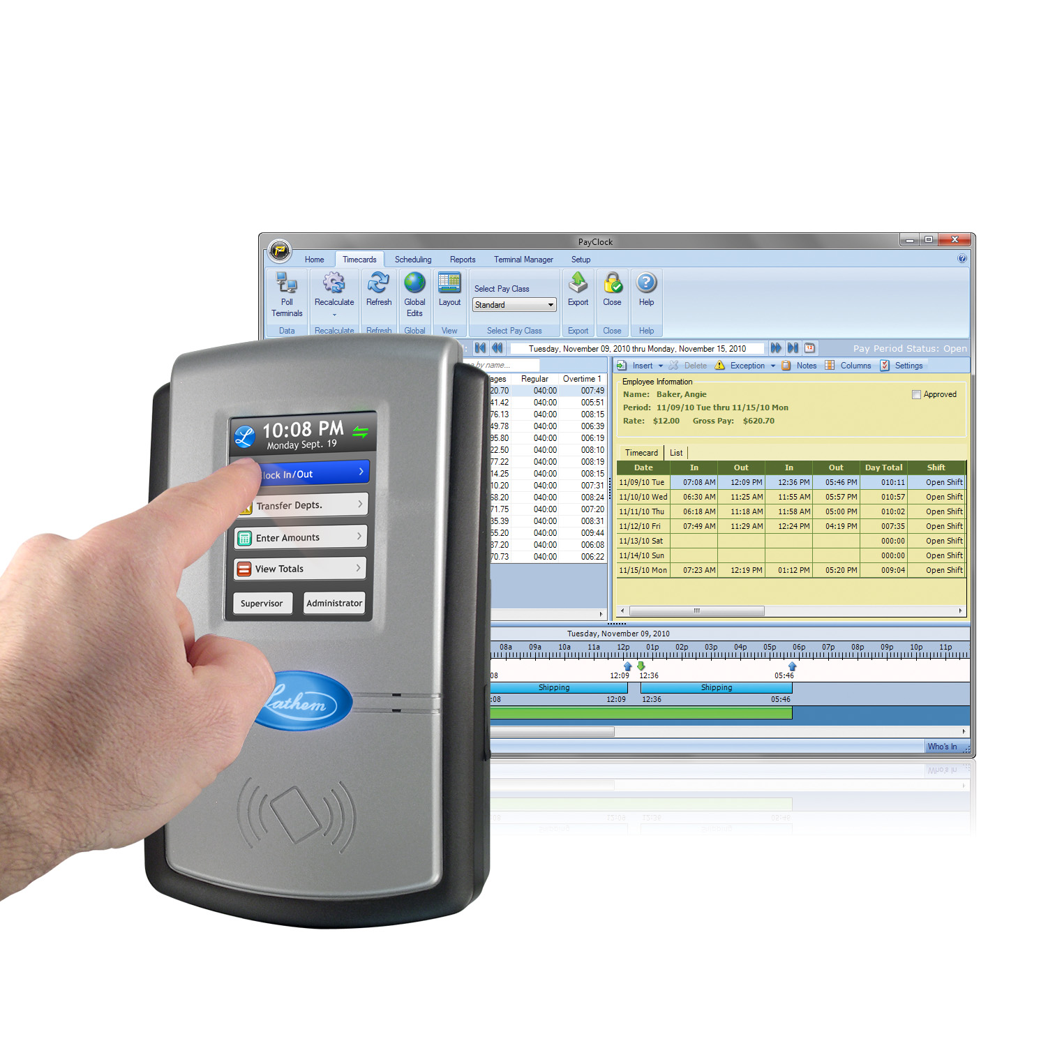 Lathem Launches PC600 Touch Screen Time and Attendance System