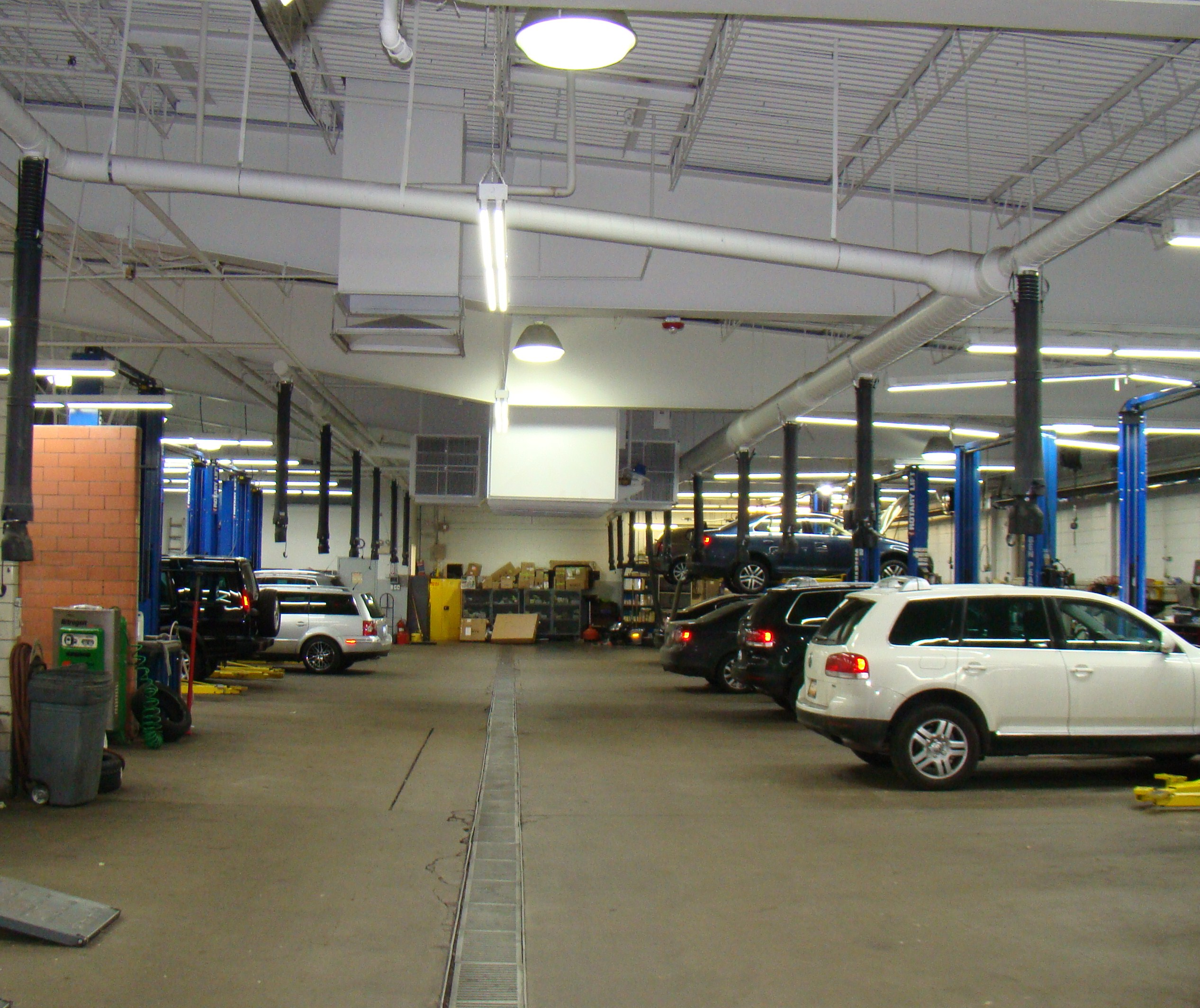 Emich Volkswagen Service Bay Led Lighting Retrofit