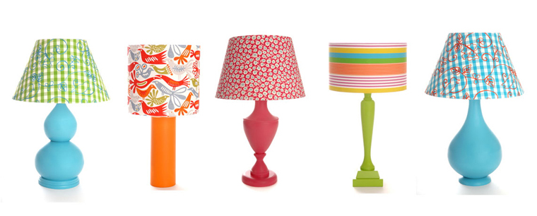 Bright Coloured Lamps By The Wooden Lamp Company